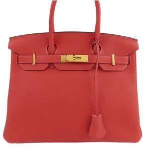 Hermes Red Togo Leather Gold Hardware Birkin 30 Bag