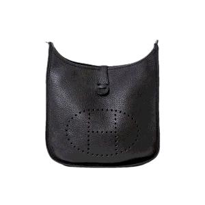 Hermes Black Leather Evelyne Shoulder Bag