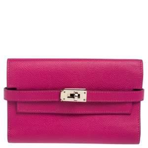 Hermès Anemone Epsom Leather Kelly Classic Wallet