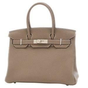 Hermes Grey Togo Leather Palladium Hardware Birkin 30 Bag
