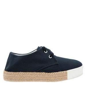 Hermes Navy Blue Suede Rosa Espadrille  Sneakers