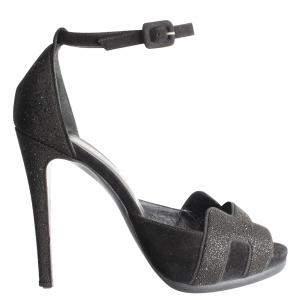 Hermes Black Premiere Sandals Size EU 38.5