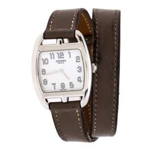ساعة يد نسائية هيرمس كابي كود CT1.210 ستانلس ستيل أبيض 26 مم