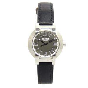 Hermes Black Stainless Steel Nomade Women's Wristwatch 26 MM