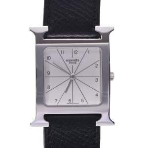 Hermes Silver H Heure HH1.510 Quartz Women's Wristwatch 29 MM