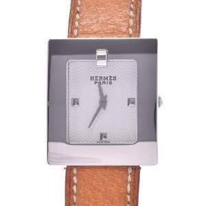 ساعة يد نسائية هيرمس حزام بي أيي1.210 كوارتز ستانلس ستيل فضية 26 مم