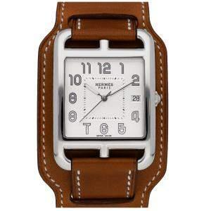 Hermes Silver Stainless Steel Cape Cod W044333WW00 Women's Wristwatch 33 MM