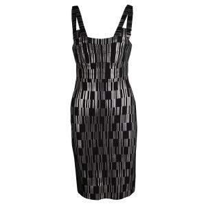 فستان بانديدج هيرفي ليغي جاسمين أسود مطبوع