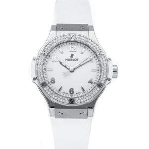 Hublot White Diamonds Stainless Steel Big Bang 361.SE.2010.RW.1104 Women's Wristwatch 38 MM