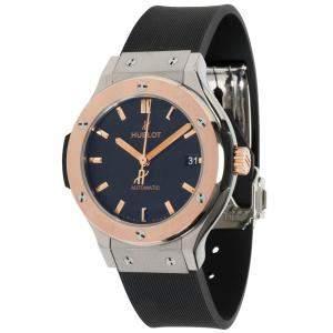 Hublot Black 18K Rose Gold And Titanium Classic Fusion 565.NO.1181.RX Women's Wristwatch 38 MM