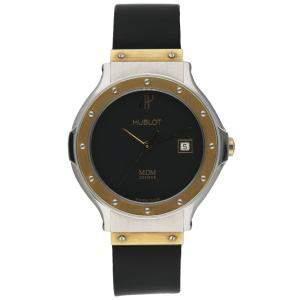 Hublot Black 18K Yellow Gold And Stainless Steel 1391.2 MDM Women's Wristwatch 28 MM