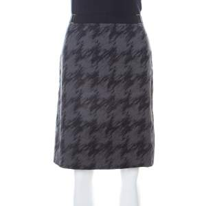 Hugo Boss Dark Grey Cotton A Line Short Skirt S