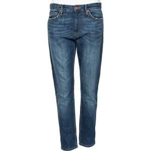 Isabel Marant Étoile Blue Denim Distressed Trim Detailed Jeans M