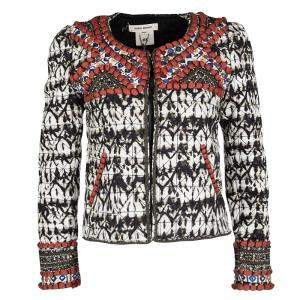 Isabel Marant for H&M Embellished Tie Dyed Quilted Cropped Jacket S