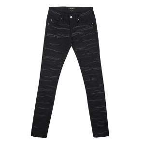 Isabel Marant Black Embroidered Denim Skinny Jeans S
