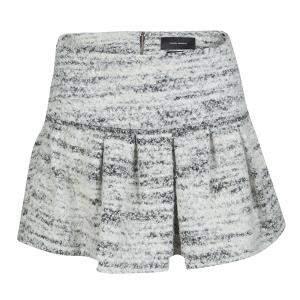 Isabel Marant Monochrome Itamy Boucle Mini Skirt M