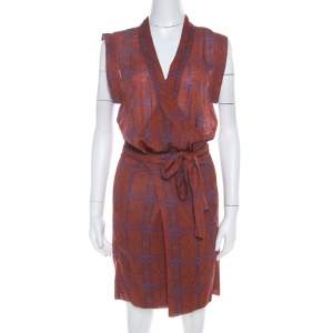 Isabel Marant Etoile Brown Cotton Voile Varna Wrap Dress M