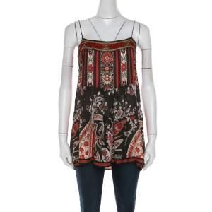 Isabel Marant Etoile Multicolor Paisley Print Crepe Tybalt Camisole Top M
