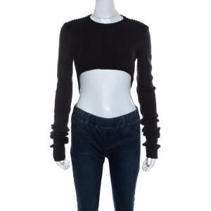 Isabel Marant Dark Grey Wool Blend Cropped Brad Sweater M