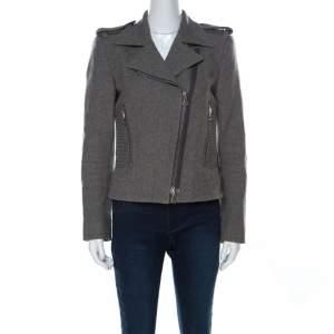 Isabel Marant Grey Wool Giovan Biker Jacket S