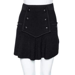 Isabel Marant Black Wool Huxley Knit Mini Skirt M
