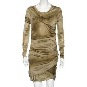Isabel Marant Green Tiedye Silk Long Sleeve Courtney Short Dress M