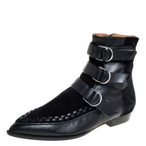 حذاء بوت كاحل ايزابيل مارانت روي جلد و سويدي أسود مقاس 37