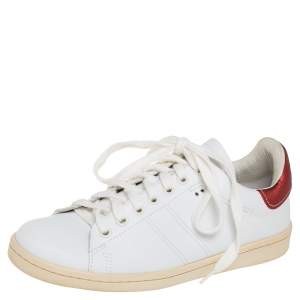 Isabel Marant White Leather Trainers Low Top Sneakers Size 37