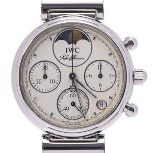 IWC White Stainless Steel Little Da Vinci 3736-006 Women's Wristwatch 28 MM