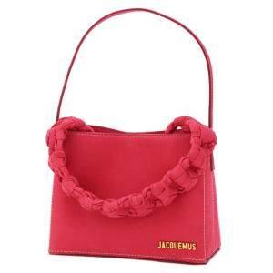 Jacquemus Pink Leather Le Sac Noeud Braded Handle Mini Bag