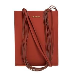 حقيبة يد جاكيموس حمالة متعددة لو أيه4 جلد مبطنة برتقالية غيغر
