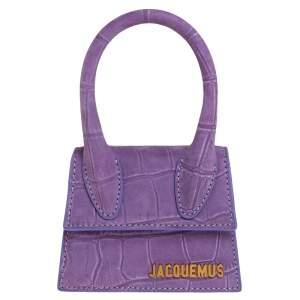 Jacquemus Purple Leather Le Chiquito Mini Satchel