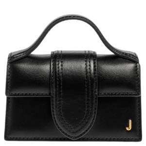 Jacquemus Black Leather Le Petit Bambino Bag