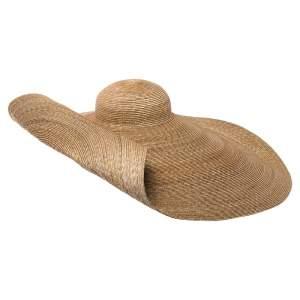Jacquemus Beige Straw Le Grand Chapeau Bomba Hat