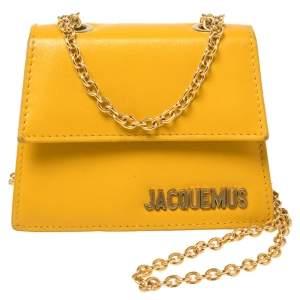 Jacquemus Yellow Leather Le Piccolo Shoulder Bag