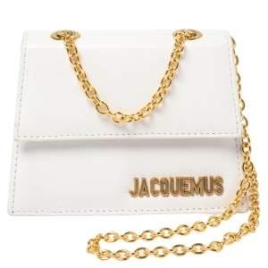 Jacquemus White Leather Le Piccolo Shoulder Bag