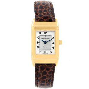 Jaeger LeCoultre Two-Tone Silver 18K Yellow Gold Reverso Classique 260.1.86 Women's Wristwatch 20.5MM