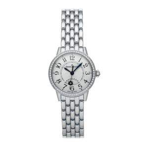 Jaeger LeCoultre Silver Diamonds Stainless Steel Rendez-Vous Night & Day Q3468130 Women's Wristwatch 29 MM