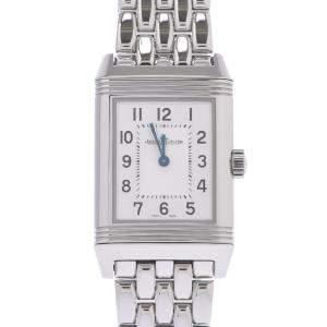 Jaeger-Lecoultre Silver Stainless Steel Reverso Classic Quartz Women's Wristwatch 21 MM