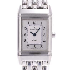 Jaeger-Lecoultre Silver Stainless Steel Reverso Q2618120 Quartz Women's Wristwatch 22 MM