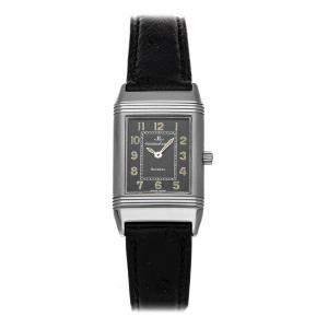 Jaeger-LeCoultre Black Stainless Steel Reverso Dame QA260802 Women's Wristwatch 20 x 33 MM