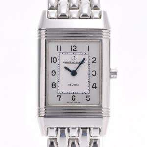 Jaeger LeCoultre Silver Stainless Steel Reverso Q2618120 Women's Wristwatch 19 x 22 MM