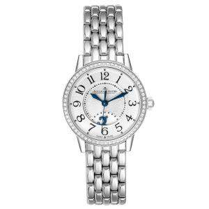Jaeger Lecoultre Silver Diamonds Stainless Steel Rendez-Vous 346.8.56.S Q3468121 Women's Wristwatch 29 MM