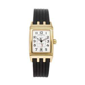 Jaeger LeCoultre Silver 18K Yellow Gold Reverso Grande Sport Q2901620 Women's Wristwatch 26.5 x 30.5 MM