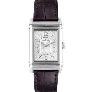 Jaeger LeCoultre Silver Stainless Steel Reverso 268.8.47 Women's Wristwatch 39 x 24 MM