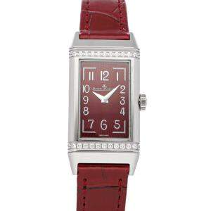 Jaeger LeCoultre Red Diamonds Stainless Steel Reverso One Q3288560 Women's Wristwatch 20 x 40 MM