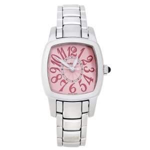 JeanRichard Pink Stainless Steel TV Screen Ref. 26006 Women's Wristwatch 22 mm