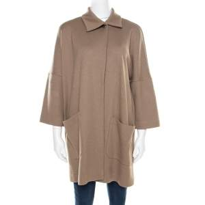 Jil Sander Beige Wool Box Sleeve Oversized Jacket S