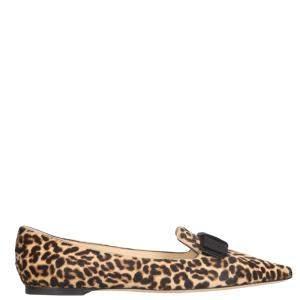 Jimmy Choo Leopard Gala Ballerinas Size IT 36