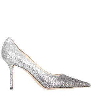 Jimmy Choo Mochi Luminous Glitter Love 65 Pointed Pumps Size IT 38